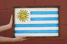 Uruguay Flag by sageandbrushSHOP on Etsy