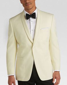 Pronto Uomo Cream Modern Fit Dinner Jacket and other Modern Fit at Men's Wearhouse.