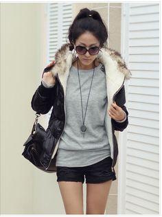 Women's Leopard Print Sleeves Shirt Gray