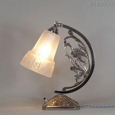 Muller freres : 1930 French art deco table lamp  (paravas - ebay)