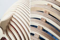 pote contours a wooden fishbone house for animals via @designboom #WoodLovers #design #wood #animalhouse
