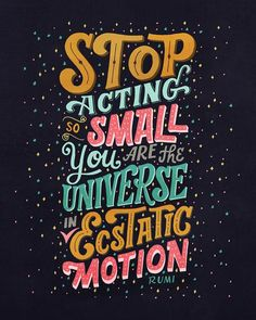 New Remarkable Lettering and Typography Designs Stop Acting So Small by Mye De LeonStop Acting So Small by Mye De Leon