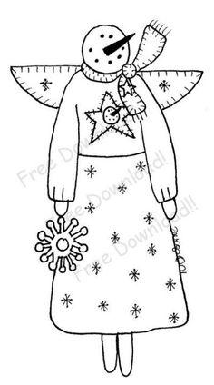 Free Goods - Free Patterns - Snowmen and Winter - Free Winter Snowman Angel pattern (Powered by CubeCart)
