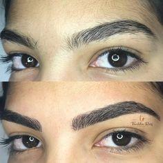 Sobrancelha fio a fio: as melhores técnicas para realçar o olhar - Dicas de Mulher Eyebrows, Make Up, Hair Styles, Beauty, Piercing, Jade, Design, Good Eyebrows, Shapes Of Eyebrows