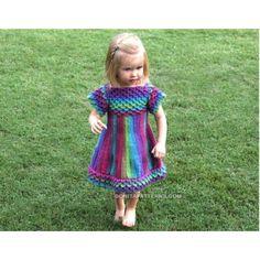 Crocodile Stitch Girly Dress ePattern