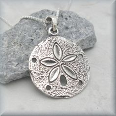 Silver sand dollar necklace beach jewelry sand dollar necklace silver sand dollar necklace sanddollar pendant by bonnyjewelry aloadofball Image collections