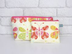 Butterfly Make Up bag & pouch by ollieandroo on Etsy