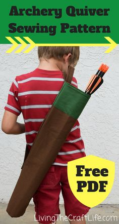 Free sewing pattern for an archery quiver. Easy to make and it can be used as a gift!