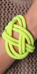 noir chaka neon knot bracelet