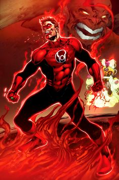 Hal Jordan as Red Lantern