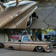 66 Chevy C10 slammed