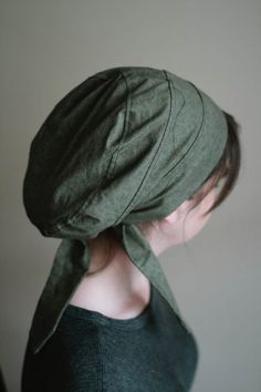 Snood Green Floral Snood Hair by SowersofHope