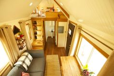 Custom 300 sq. ft. (incl. lofts) Craftsman on Wheels Featured on Tiny House Nation