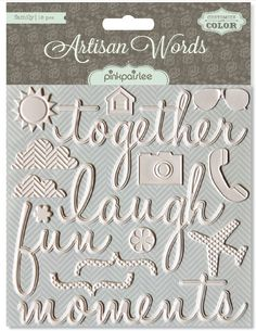 #StudioCalicoPinToWin    pink paislee - artisan words.   wow. love these.