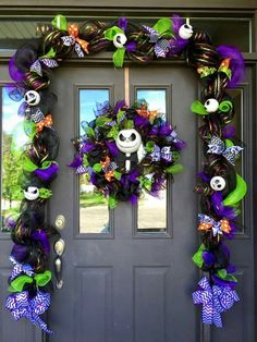 The Nightmare  before  Christmas  Front door  decoration