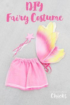 DIY Fairy Costume - Easy costume for Halloween!