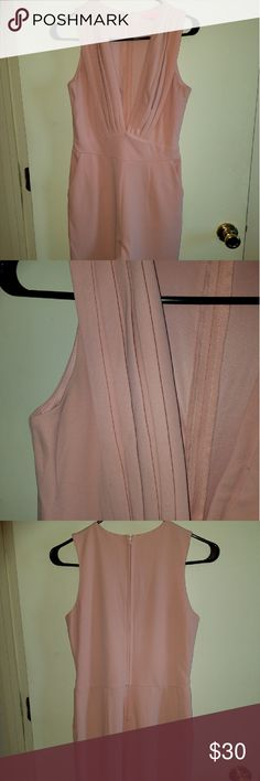Women's Sexy Plunge V Bodycon Jumpsuit Blush pink, tight, stretchy, light weight, comfortable to wear, full length. Suitable for many occasions!! Pants Jumpsuits & Rompers