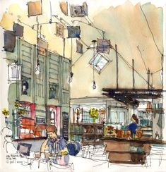 art journal, sketchbook - urban inspiration. Beyond Starbucks