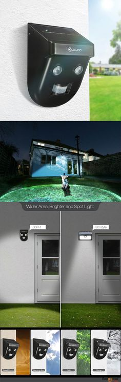 "US$15.99 + Free shipping. Digoo DG-SSR-1 Gardening Solar Wireless PIR Sensor Long-Distance Waterproof Outdoor Wall Light. One can turn your house to a ""lighthouse"" and lights every thing on the way; Two can make your house equipped with dual protection and no dead angle on vision; Few can turn your garden into a ""Party stage"" and let every people play under the ""spot light"" >>> To view further, visit now."