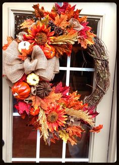 Large Fall Wreath....Designs by Karrie