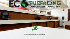 Eco-Surfacing is a sustainable approach to updating millwork. In 2019 alone we kept over 1 million pounds of unnecessary waste out of landfills! Ocala Florida, Sustainability, Countertops, Surface, Counter Tops, Counter Top, Sustainable Development, Table Top Covers