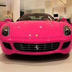 PINK car wow soo cute
