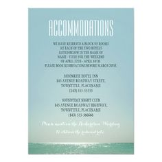 accommodations for beach weddings