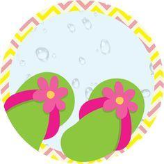 Girls at the Pool: Free Printable Kit. Free Printable Invitations, Party Printables, Party Invitations, Free Printables, Spa Birthday Parties, Spa Party, Hawaian Party, Hawaiian Luau Party, Candy Bar Labels