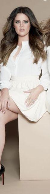 Khloe Kardashian: Shirt and skirt – Kardashian Kollection  Shoes – Christian Louboutin