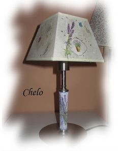 lámpara lavanda, idea para las dos lamparitas sosas de nuestro dormitorio