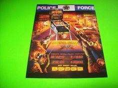 On Sale... POLICE FORCE By WILLIAMS 1989 ORIGINAL NOS PINBALL MACHINE SALE FLYER #pinball #pinballflyer #pinballbrochure #pinballmachine #pinballpromo #williamspoliceforece