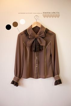 004a3259c5f HMHM 2014 spring  Coffee CAFE ◇ coffee gold crepe chiffon long-sleeved