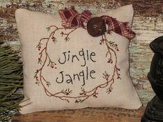 Country Primitive Christmas Stitchery Decor by MockaMooseMarket
