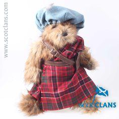 MacRae Tartan Bear. Free worldwide shipping available.