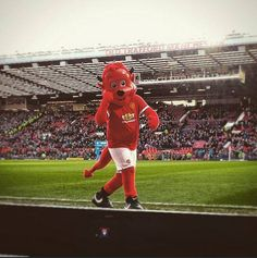 Fred the Red before the kick off ♥