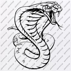 Music Tattoo Designs, Cobra Snake, Vector Graphics, Svg File, Print Design, Clip Art, The Originals, Prints