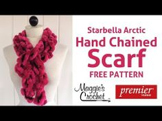 ▶ 3 Minute Starbella Artic Hand Chained Scarf - Right Handed - YouTube #armknitting #knit #diy