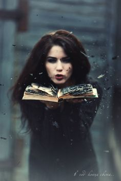 Briah stood in horror as she watched her mother, Cintera, blow a book to little pieces, while practicing her dark magic at home.