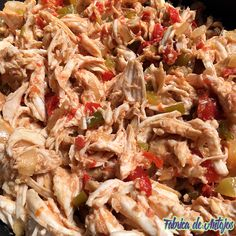 Fabrica de Antojos | Pizza Pulled Chicken (Slow Cooker) | http://www.fabricadeantojos.com