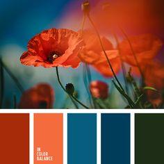 anaranjado y azul oscuro, anaranjado y rojo, anaranjado y verde, azul oscuro y anaranjado, azul oscuro y rojo, azul oscuro y verde, color de amapolas, color rojo amapola, rojo y anaranjado, rojo y azul oscuro, rojo y verde, verde y anaranjado, verde y azul oscuro, verde y rojo.