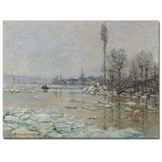 The Breakup of Ice, 1880 by Claude Monet Painting Print on Canvas