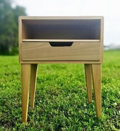 Mid-Century Modern Side Table  Night Stand by TimberCraftCabs