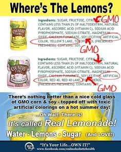 GMO's and Monsanto - so not paleo Country Time Juice!