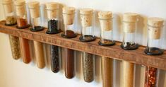 Pantry Organization Ideas - 15 Tips to Make Yours Functional and Fabulous - Bob Vila Spice Storage, Spice Organization, Kitchen Storage, Organizing, Jamaican Desserts, Jamaican Recipes, Test Tube Spice Rack, Biscuit, Storing Spices