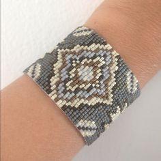 Chan Luu Jewelry - Chan Luu Grey Mix Woven Seed Bead Cuff Bracelet.