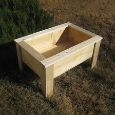 DIY Started Raised Gardening Bed for Kids, this would make a good spring unit, from building to planting to harvest, to removal of the plants