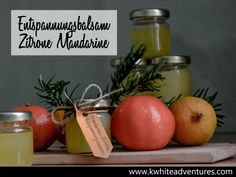 DIY Entspannungsbalsam - rote Mandarine, Zitrone Table Decorations, Handmade, Diy Xmas Gifts, Lemon, Homemade, Hand Made, Arm Work