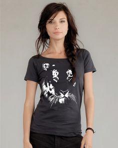 Tiger tshirt on Alternative Apparel Organic Cotton tee / womens tshirt / eco friendly / womens shirt