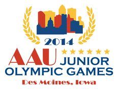 2014 AAU Junior Olympic Games - Des Moines, Iowa. Woooo close by!