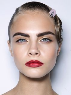 I have chosen to add this image off Cara Delevingne as she was one of my main inspirations for my character designs. I really like the eyebrows on this model, i was inspired by how dark they are compared too her hair. I think this will look effective for my own design having a model with light hair with to compliments the dark eyebrows i have created.